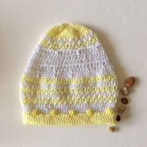 Crochet Beanie / hat /tam with buttons